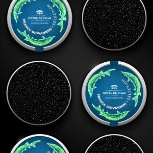 Boîte de caviar osciètre...